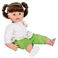 "Gotz 1327669 Maxy Muffin, 16.5""?oll, Soft Body,?runette Washable Hair in Pigtail Braids, Brown Sleepy Eyes by Gotz"