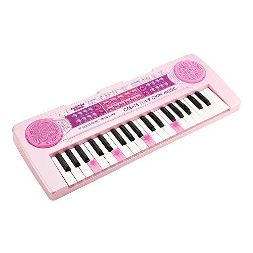 充電する 電子ミニキーボード JINRUCHE 37鍵盤 キ...
