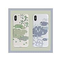 [IHon] スマホケース 森 | 海 かわいい 爽やか iPhone7/8 iPhone7p/8plus iPhone X/XS 柔く 耐衝撃 すり傷防止 アイフォンケース 軽量 レンズ保護 アイフォン ケース カバー おしゃれ (色 : 海, サイズ : I7p/8plus)