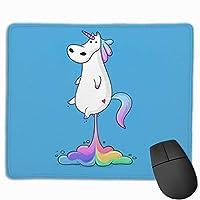 虹カブト 滑り止め用デスクトップのマウスパッドにノートパンコンのマウスパッドを25X30CM当てた