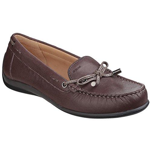 (ジェオックス) Geox レディース Yuki スリッポン モカシンシューズ 婦人靴 フラットカジュアル 女性用 (6 UK) (チェストナッツ/トープ)