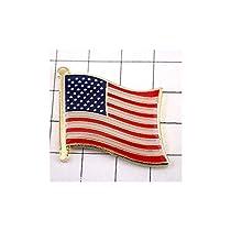 ピンバッジ アメリカ 合衆国 星条旗 USA 国旗 デラックス薄型 キャッチ 付き ピンズ