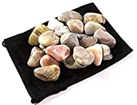 zentronクリスタルコレクション: TumbledピンクBotswana Agate 1 Pound PinkBotswana-Tumbled-1.0