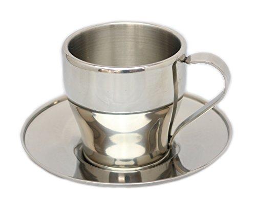 パール金属 アルゴ ダブルステンレス コーヒーカップ&ソーサ...