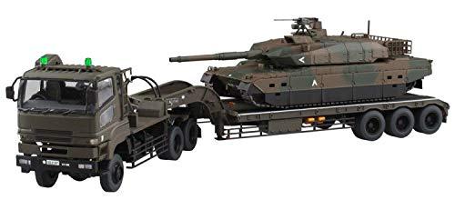 1/72 ミリタリーモデルキット No.16 陸上自衛隊 10式戦車&特大セミトレーラー付属