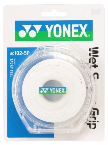 ヨネックス(YONEX) テニス バドミントン グリップテープ ウェットスーパーグリップ5 (5本入) ホワイト AC1025P