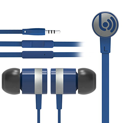 スポーツ/有線/3.5ミリメートルジャック/カナル型/耳栓/イヤホン/ヘッドセット/ヘッドフォン/スーパー低音/カラフル/マイク/ハンズフリー/ノイズキャンセル/ HIFI/ステレオ/Apple、Samsung、Android スマートフォンなどに対応 ブルー