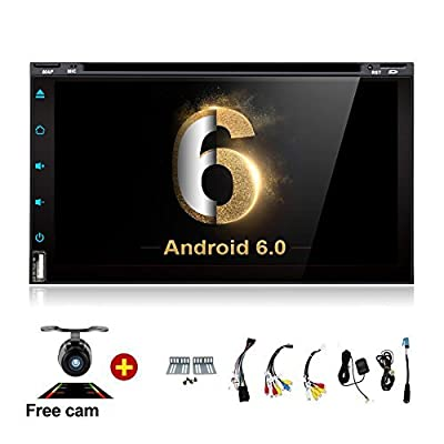 "7"" Android Auto Double Din DVD WiFi TV Tablet Car Stereo Touch Screen Receiver Bt in-Dash Head Unit Apple Carplay OBD2 DVD/CD/Am/FM Multimedia Fit Nissan Honda Ford Toyota Audi Backup Camera"