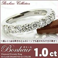 K18/Pt900 ダイヤモンド エタニティ リング 1.0ct 鑑別書付 ピンクゴールド,13号