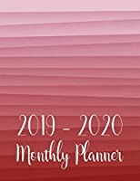 2019-2020 Monthly Planner: Two Year - Monthly Calendar Planner - 24 Months Jan 2019 to Dec 2020 for Academic Agenda Schedule Organizer Logbook and Journal Notebook Planners - Pink Watercolor Line Cover