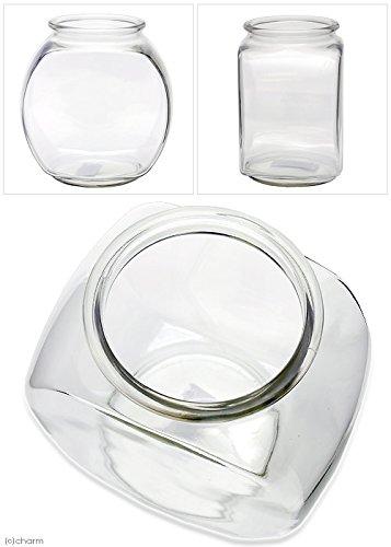 おしゃれな国産ガラス製 金魚鉢 3L