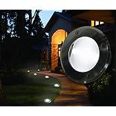 【日本製電池使用】長寿命ソーラー地面灯 埋め込み型LEDライト SL-01