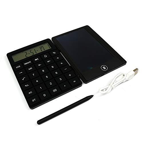 Koars どこでもメモ帳 メモ 手書きタイプ 便利な電卓付き ボタン1つで簡単削除 付箋 ペーパーレス (ブラック)