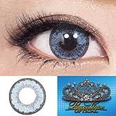 処方箋不要 プリンセスカラー オプティカル カラー コンタクト レンズ 1箱1枚入 ブルー PWR-2.00