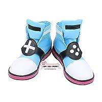 【サイズ選択可】コスプレ靴 ブーツ Z2-0321 バーチャルYouTuber キズナアイ スーパーAI アイちゃん 男性26.5CM