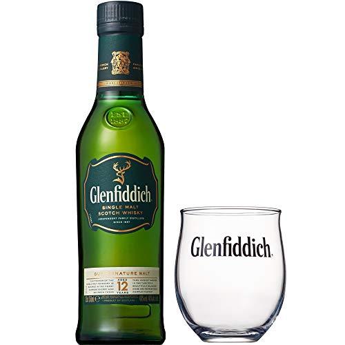 シングルモルトウイスキー グレンフィディック12年350ml オリジナルグラス付ギフト