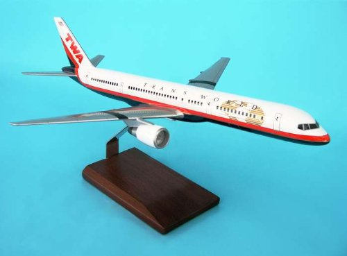 1: 100 エグゼクティブシリーズ TWA ボーイング 757-200 Final Colors Handcrafted Mahogany (並行輸入)