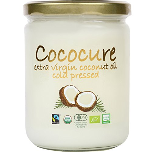 オーガニック100% フェアトレード エキストラ バージン ココナッツオイル コールドプレス製法 無添加 MCT COCOCURE1個