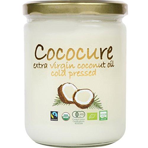COCOCURE 有機 JAS 100%オーガニック フェアトレード エキストラ バージン ココナッツオイル コールドプレス製法 無添加 1個