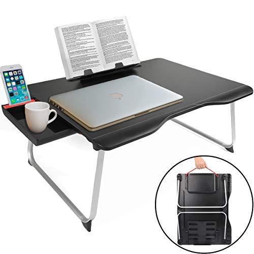 Cooper Cases TABLE MATE 折りたたみ テーブル ローテーブル ミニ 机 ベッド 一人 幅65×奥行49×高さ27.5cm (ブラック)