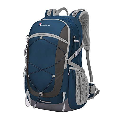 075a3972f052 マウンテントップ(Mountaintop) バックパック 40L リュック 登山 ザック アウトドア 旅行用 バッグ リュックサック 防水 軽量  レインカバー付き (サファイアブル.