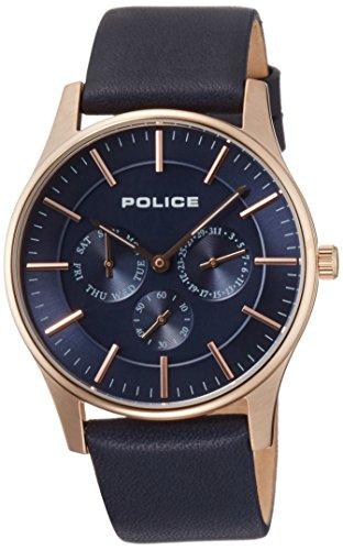 [ポリス]POLICE 腕時計 コーテシー スモールセコンド デイデイト レザーバンド 14701JSR-03 メンズ 【正規輸入品】