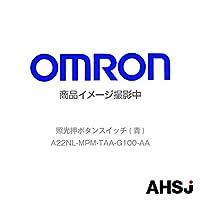 オムロン(OMRON) A22NL-MPM-TAA-G100-AA 照光押ボタンスイッチ (青) NN-
