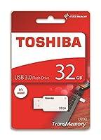 東芝アカツキペンドライブ32Gb、USB 3.0キー、Transmemory U303、ホワイト