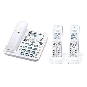 パナソニック デジタルコードレス電話機 子機2台付き 1.9GHz DECT準拠方式 ホワイト VE-GD56DW-W