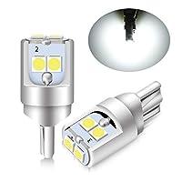 T10 LED ウェッジ球 2個1SET 6連LEDバルブ ホワイト発光 12V クリアランスランプ ライセンスランプ ルームランプ