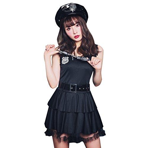 ブライトララ コスチューム ポリス 警察 警官 ハロウィン コスプレ衣装 婦人警官 制服 仮装 レディース kp0010bk-M