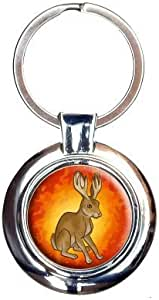 Jackalope Got Your Tongue Keychain Key Ring by Made on Terra [並行輸入品]