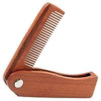 Moligh doll 木製の携帯用くし ひげ櫛 鉄ワイヤー木製の折るひげの櫛