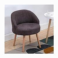 仕事机の椅子キャンディー色の北欧のシンプルさ耐久性のある背中の木人間工学に基づいたオフィスレジャーエリアに適し54 * 43 * 70 cm,brown