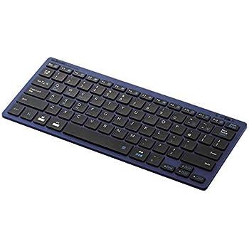 エレコム Bluetoothミニキーボード/パンタグラフ式/軽量/マルチOS/ブルー