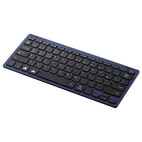 エレコム Bluetoothミニキーボード パンタグラフ式 軽量 マルチOS対応 ブルー TK-FBP102BU 1個