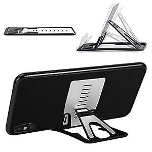 TITACUTE iPhone 11/Pro/Max スマホスタンド タブレットスタンド 携帯電話スタンド 卓上 薄型軽量 折りたたみ式 角度調整可能 携帯便利 9段階 スマホホルダーiPhone XS/XS Max/XR/X/iPhone 8/Xperia Ace SO-02L/samsung galaxy s10/s10+/s9/s9+/Androidスマホに対応
