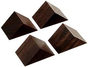 山本音響工芸 黒檀製三角セッティングベース(4個入) PB-22PB-22