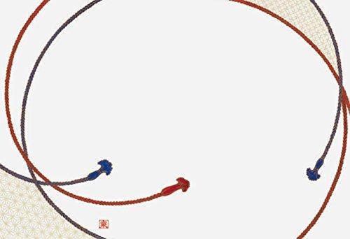 若泉漆器 上質紙マット 尺3寸長手テーブルマット 吉祥紋シリーズ 組紐文 100枚入 B-26-34