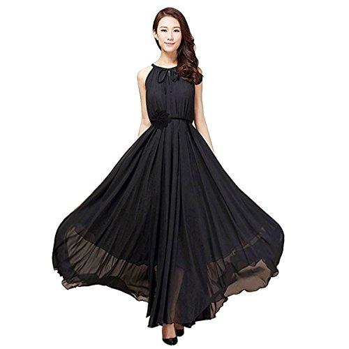 [TaoTech] MAXI長裙2型帶+鮮花禮品4件套2WAY薄紗的波希米亞長裙無袖