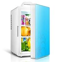 シュウクラブ@ 16L 12V DC 220V ACシングルコア冷蔵暖房冷蔵庫冷蔵庫ミニ小型家庭用車のデュアルユース冷蔵庫外形寸法:26 * 32 * 42.5cm、内寸:19 * 20 * 36cm、 (色 : 青)
