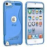Apple iPod touch 5 アウトドアスタイルケース (アイポッドタッチ 2012年 第5世代 iPod 5th 対応) Outdoor Style TPU Case ロゴカットデザイン + 液晶保護フィルム1枚【Clear Blue(青)】
