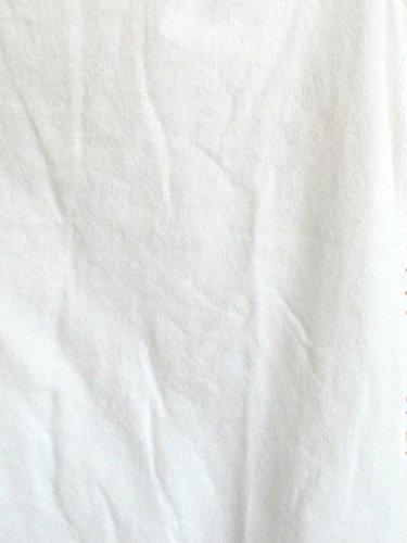 綿 無地 ストレッチ UV 紫外線カット タートルネック ノースリーブ カットソー (M, オフホワイト)