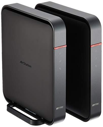 BUFFALO 【iPhone6対応】 11ac/n/a/b/g 無線LAN親機(Wi-Fiルーター) 2台 エアステーション ハイパワー Giga 866+300Mbps WZR-1166DHP/E (利用推奨環境4人・4LDK・3階建て)