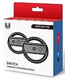 GH Switch マリオカート 8 デラックス ハンドル Nintendo スイッチ ジョイコン (Joy-Con) コントローラー 専用 2個 セット(黒2)