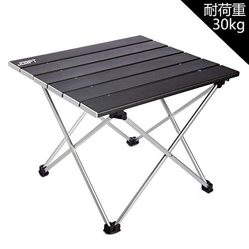 アウトドアテーブル Jorft アウトドア フォールディング フレーム アルミロール 折りたたみ テーブル アルミ 収納袋付き 耐荷重30kg