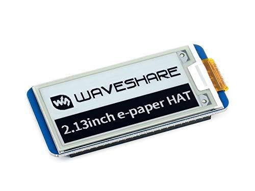 Waveshare 2.13インチ電子インク表示Hat for Raspberry Pi 250x 122解像度、with埋め込みコントローラ、Spiインタフェース