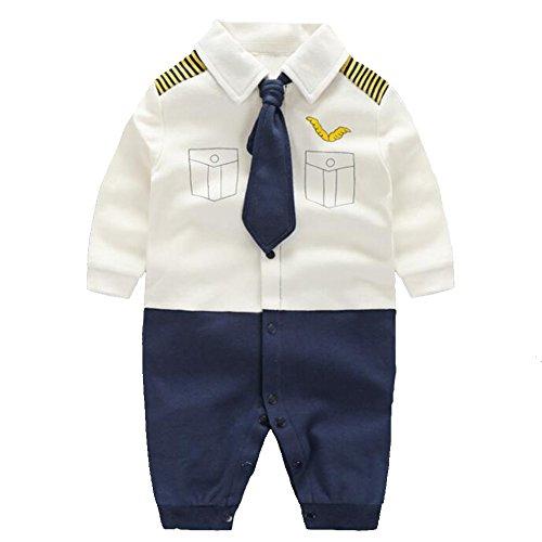 c1d9ab57195af エルフ ベビー(Fairy Baby) ベビーフォーマル 男の子ロンパース 結婚式服 90cm キャプテン柄
