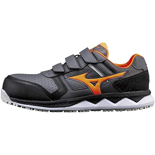 [ミズノ] 安全靴 オールマイティ HW22L 軽量 ベルト JSAA・普通作業用(A種) ダークグレー×オレンジ×ブラック 26 cm 3E