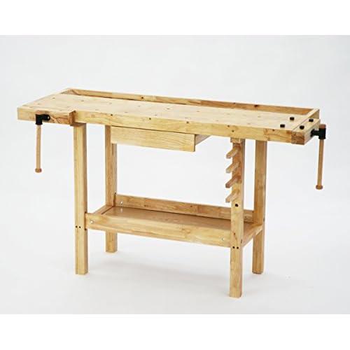 W150 木工作業台 木工用作業台 木製作業台 工作作業台 木製工作作業台 作業台 木製 バイス 工作用 木工用 デスク 机
